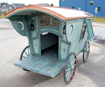 "Thumbnail image for Old Gypsy Wagon Doghouse with The ""Veranda"" Finish"