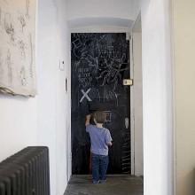 chalkboard paint on door