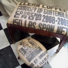 Burlap and Mosaics from Lavender Hill Studio
