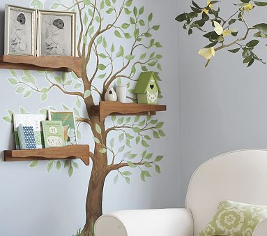 Paint  Baby Room on How To Paint A Tree Silhouette Mural