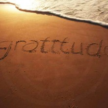 gratitude on the beach