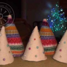 Christmas trees from felted sweaters