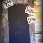 Thumbnail image for UpCycled Wooden Door with Chalkboard Paint
