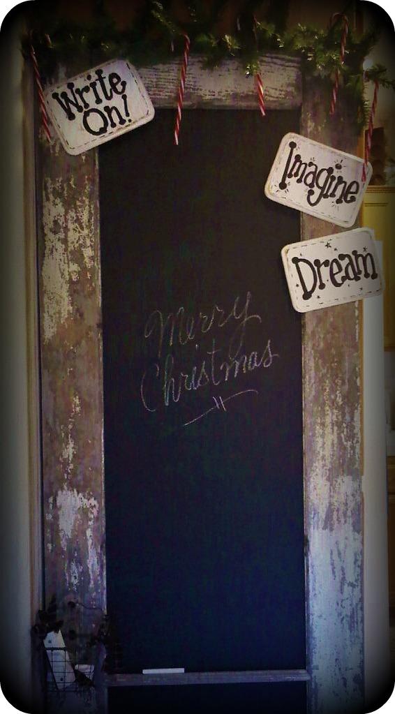 Chalkboard Paint Door