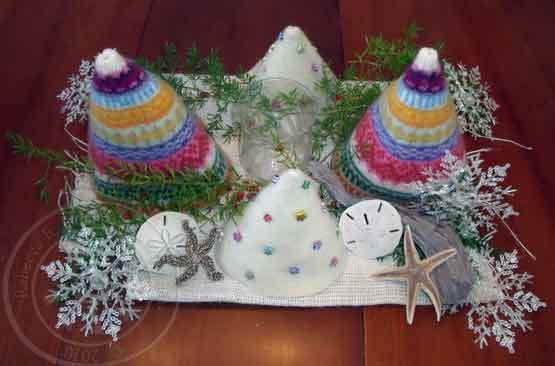 Christmas Trees from Recycled Wool Sweaters