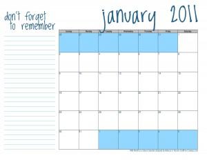 FREEBIE 2011 Calendar