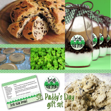 St. Patrick's Day Irish SOda Bread in a Mason Jar with Printable