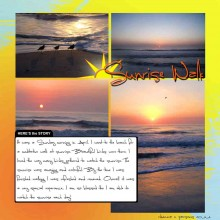 Sunrise Walk Scrapbook Page Layout