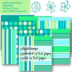 Beautiful Printable Paper Sets for Paper Art Projects