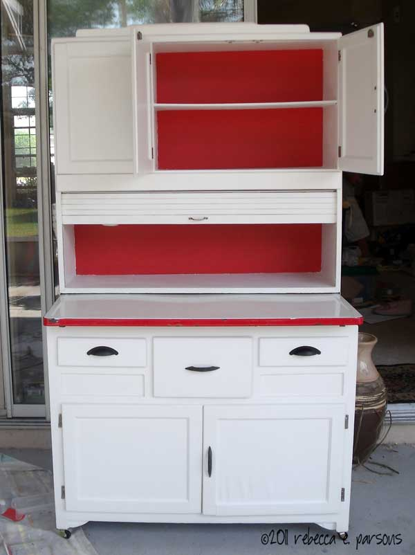 Ghosts Of Furniture Past Update Diy Hoosier Cabinet Restoration