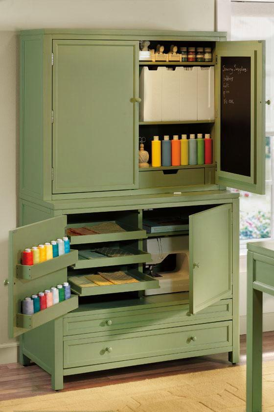 I heart martha stewart craft storage hutch - Pieces of furniture that can keep your home office organized ...