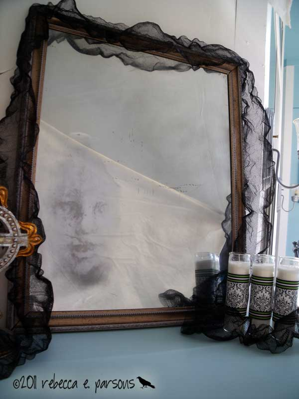 Ghostly Mirror with Krylon Looking Glass Paint