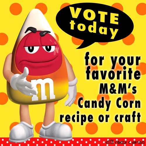 candy corn M&M's white chocolate