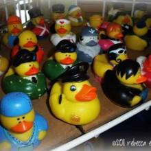 Rubber ducks dressed for Halloween
