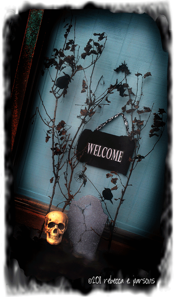 The Haunted welcome sign Halloween decor
