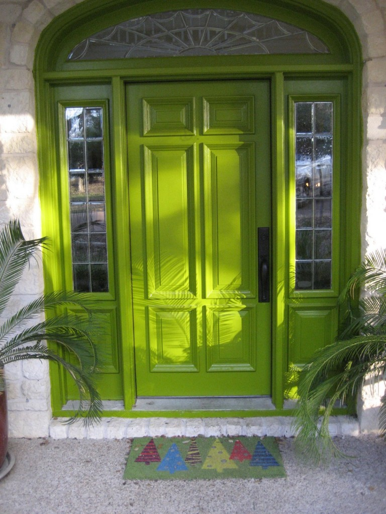 lime front door color