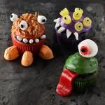 Halloween mini monster cupcake