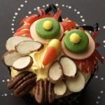 Halloween nutty owl cupcake
