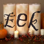 DIY Halloween EEK candles