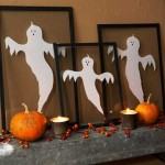 DIY Halloween framed ghosts