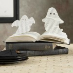 DIY Halloween book ghost cutouts