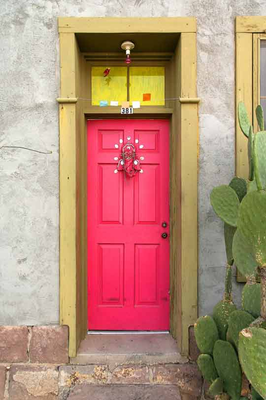 pink front door color