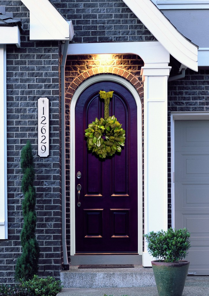 purple front door color
