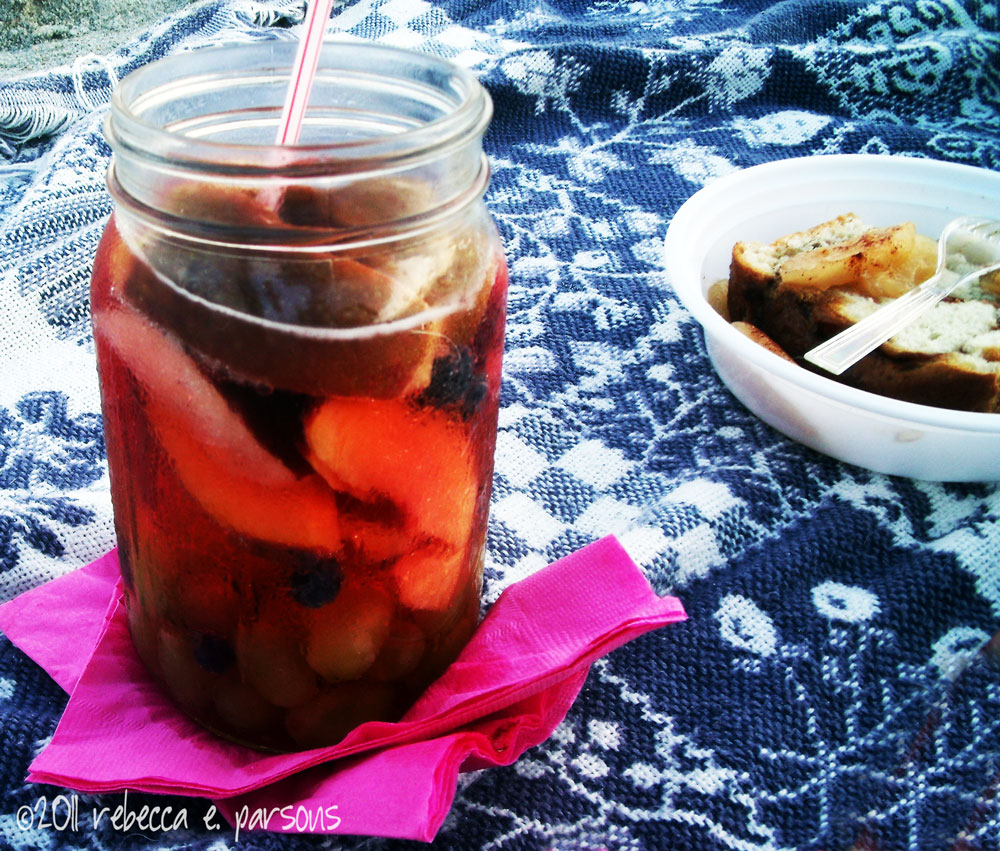 sangria and apple bread beach picnic