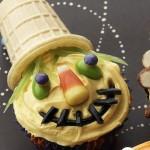 Halloween scarecrow cupcake