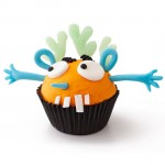 Halloween silly monster cupcake