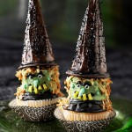 Halloween witch hat cupcake