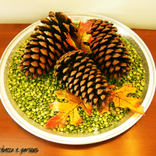 Thanksgiving Pine Cone Centerpiece