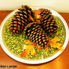 Thanksgiving Pine Cone Centerpiece