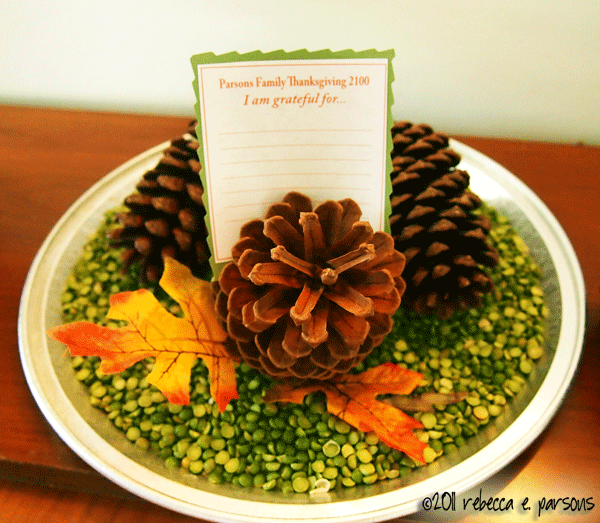 Thanksgiving Pine Cone Place Card