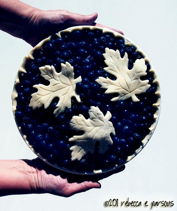 Blueberry tart ready to bake