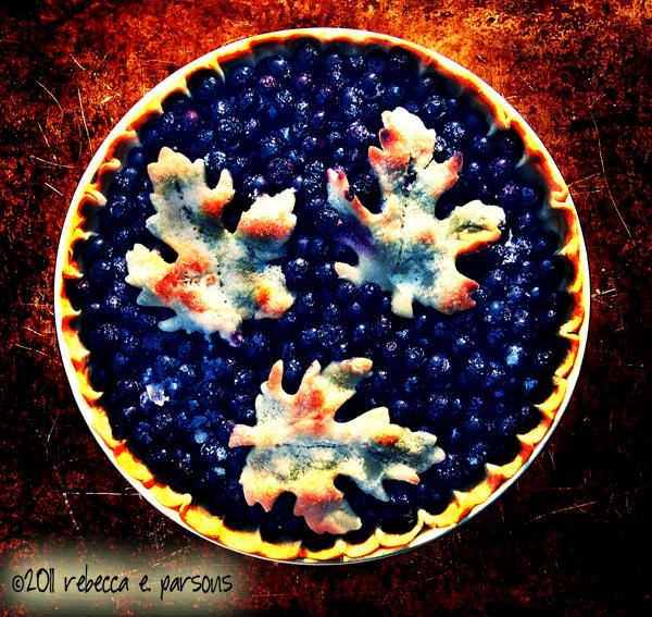Thanksgiving Bounty Blueberry Tart food baking