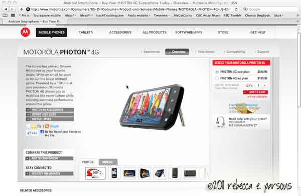 Motorola Photon 4G website