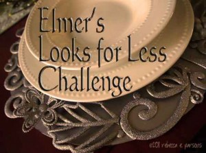 DIY Pottery Barn Knock Off ~ Carved Architectural Charger w/Elmer's #Looks4Less & Giveaway