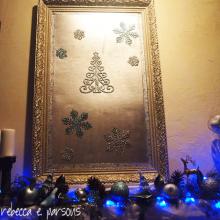 DIY Christmas Decor Vignette #18 ~ Elegantly Sumptuous Luxe 4 Less mirror over mantle