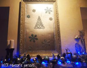 DIY Christmas Decor Vignette #18 ~ Elegantly Sumptuous Luxe 4 Less