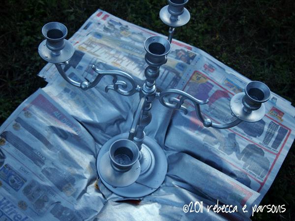 the candelabra after