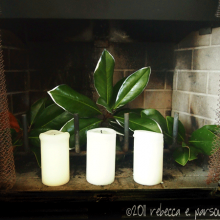 DIY Christmas Decor Vignette #17 ~ Elegantly Sumptuous Luxe 4 Less