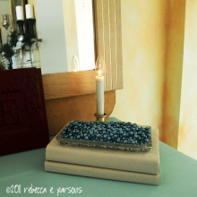 DIY Christmas Decor Vignette #13 ~ Elegantly Sumptuous Luxe 4 Less