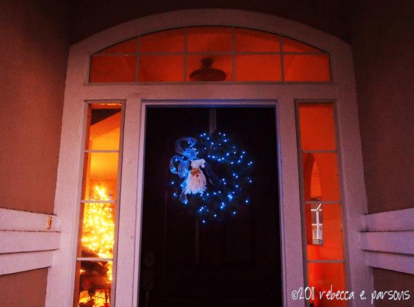 DIY Chritmas Decor Vignette #1 ~ Elegantly Sumptuous Luxe 4 Less door wreath