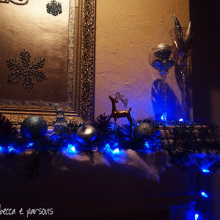 DIY Christmas Decor Vignette #10 ~ Elegantly Sumptuous Luxe 4 Less