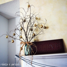 DIY Christmas Decor Vignette #3 ~ Elegantly Sumptuous Luxe 4 Less