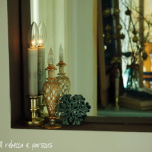 DIY Christmas Decor Vignette #5 ~ Elegantly Sumptuous Luxe 4 Less