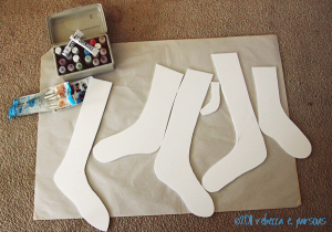 DIY Faux Wooden Stocking Tutorial cut out