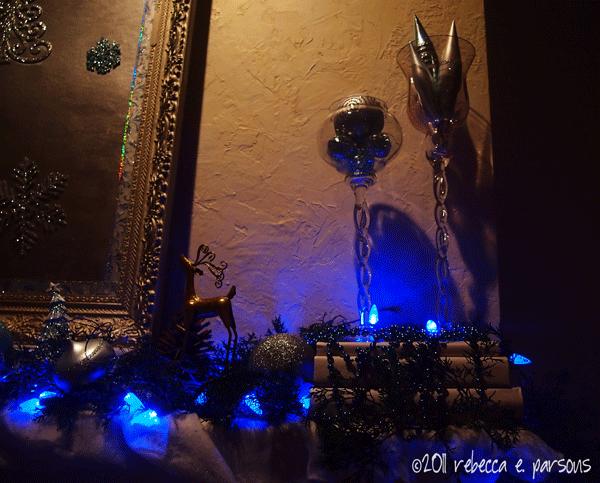 DIY Christmas Decor Vignette #19 ~ Elegantly Sumptuous Luxe 4 Less