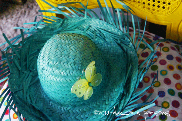 #TCBYgrocery aqua-hat-yellow-chair